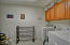 plenty of extra space in this laundry room