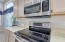 stainless steel microwave and electric oven