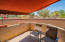 Outdoor patio with retractable awning