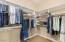 Huge organized walk-in closet