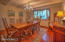 perfect dining room for gatherings in the 1870 farmhouse portion of the home