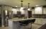 Beautiful Glazed Cabinets - granite island and countertops