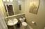 Guest powder room on the main floor.