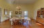 Very large dining room for large gatherings.