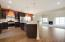 Open concept kitchen with plenty of space to move around. And many options to personalize.
