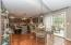 • New hardwood flooring ~ 2006/2007 • Grey painted walls • New hanging light ~ 2012 • Double sliding doors to Deck and Patio