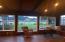 Family room at dusk.