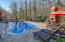 In Ground Pool with Fire Place