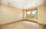 Large master sitting room/office/workout space with fireplace!