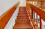 staircase to the 2nd floor loft and bedrooms
