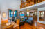 Open concept living and dining area