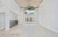 """Great Room With Dual Designer 72"""" Ceiling Fans Facing Front Entrance"""