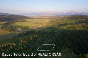 Approx lot line with amazing Views to the West toward the Tetons