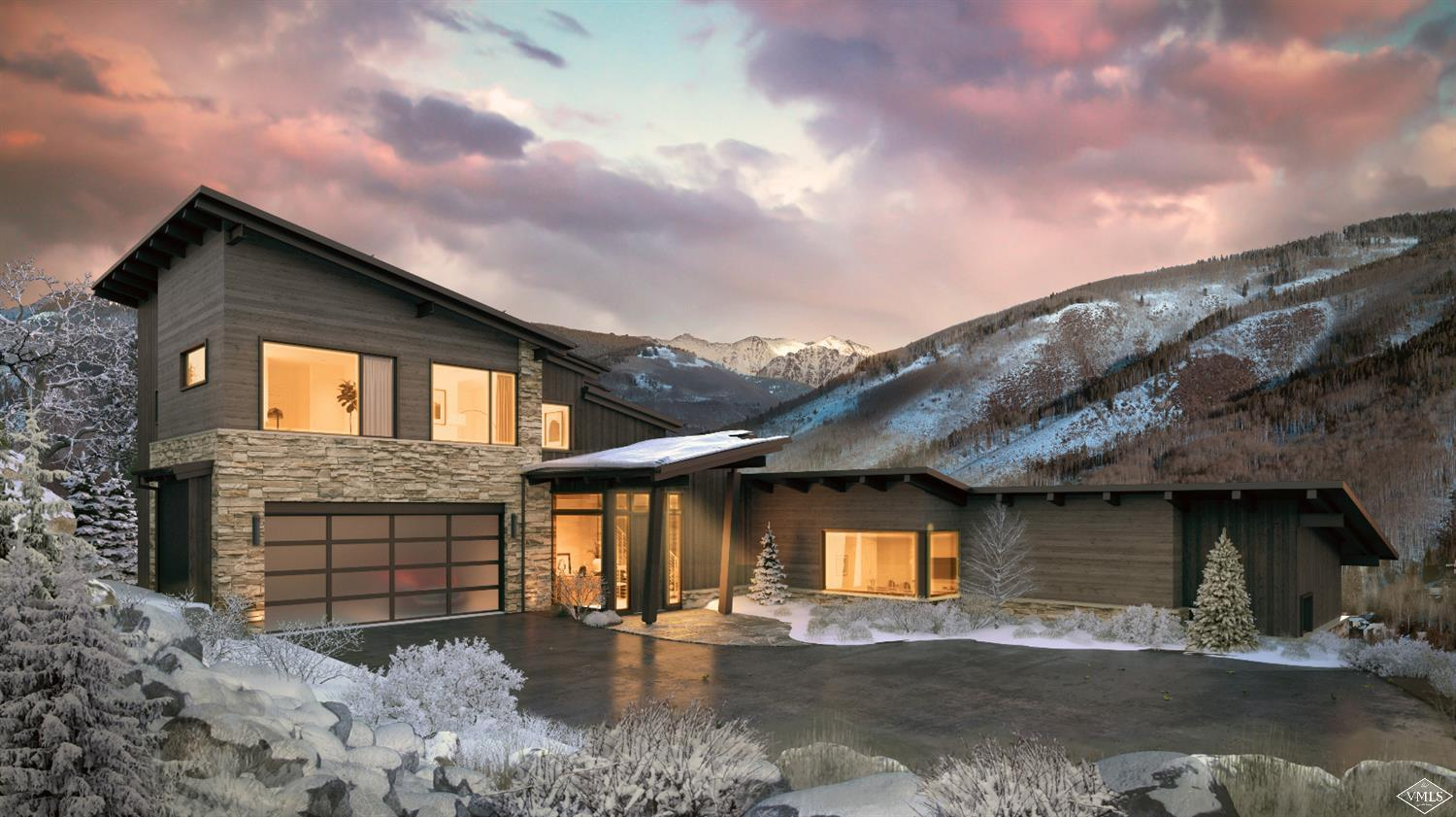 Spectacular 5-bedroom, 5.5 bathroom new construction single family home in an idyllic West Vail setting with sweeping Gore Range, Bald Mountain, and Valley views. Not a detail was overlooked in this stunning mountain contemporary design by Hans Berglund Architecture and Vail Custom Builders. Cutting edge features include an open concept design, large great room, luxurious main floor master suite, office, oversized garage with ample storage, a large family room, generous outdoor spaces, and more.