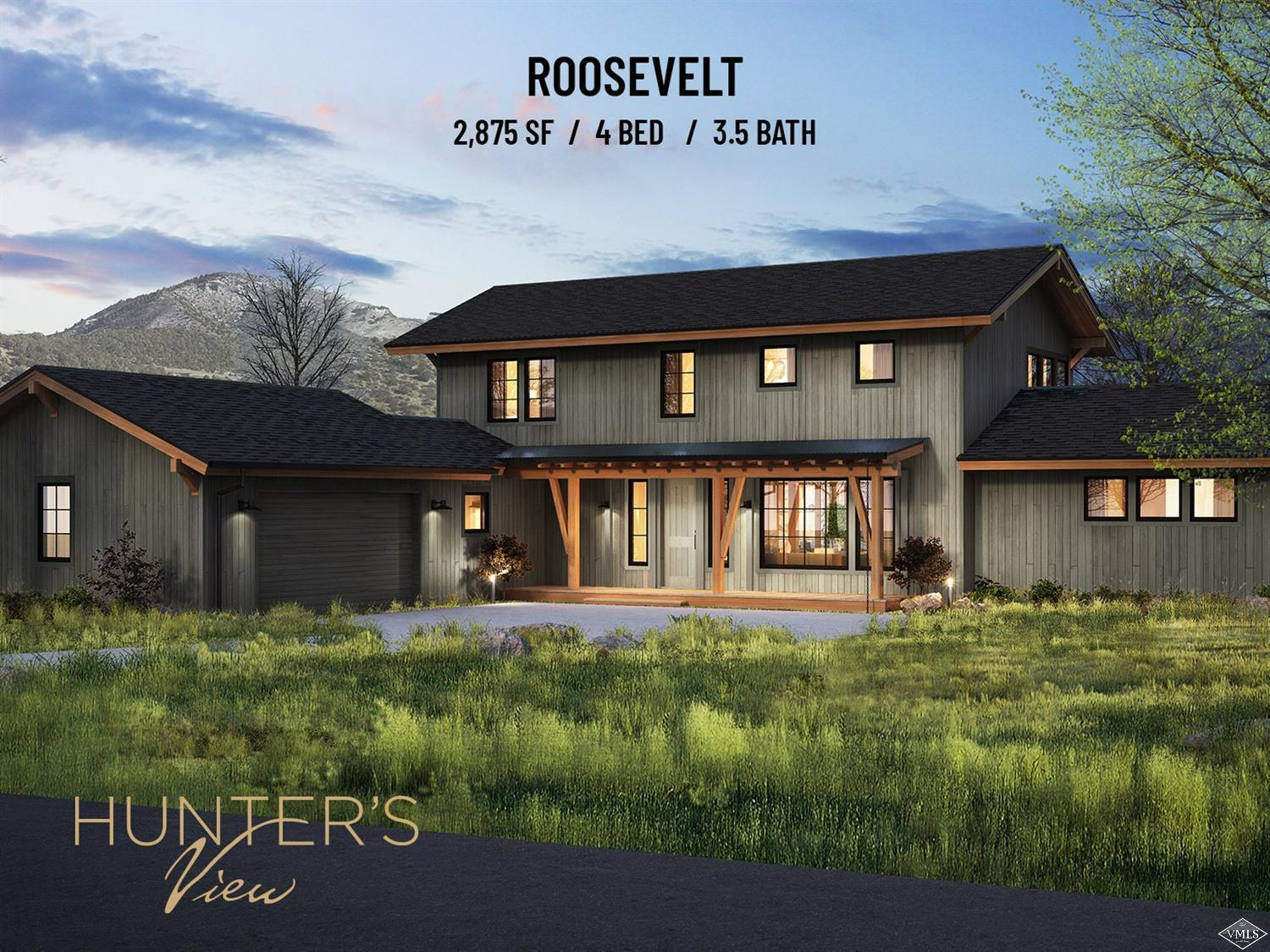 Starting Summer of 2020 - Roosevelt Model - Hunter's View Residences - Nestled on 81 acres, surrounded by pristine wilderness, Hunter's View is Frost Creek's newest real estate offering. Phase 1 (15 homes out of 44) are thoughtfully designed new construction homes, which is perfect combination of personalization and convenience. With 3 unique layouts and numerous additions to choose from, no two residences will be exactly the same.