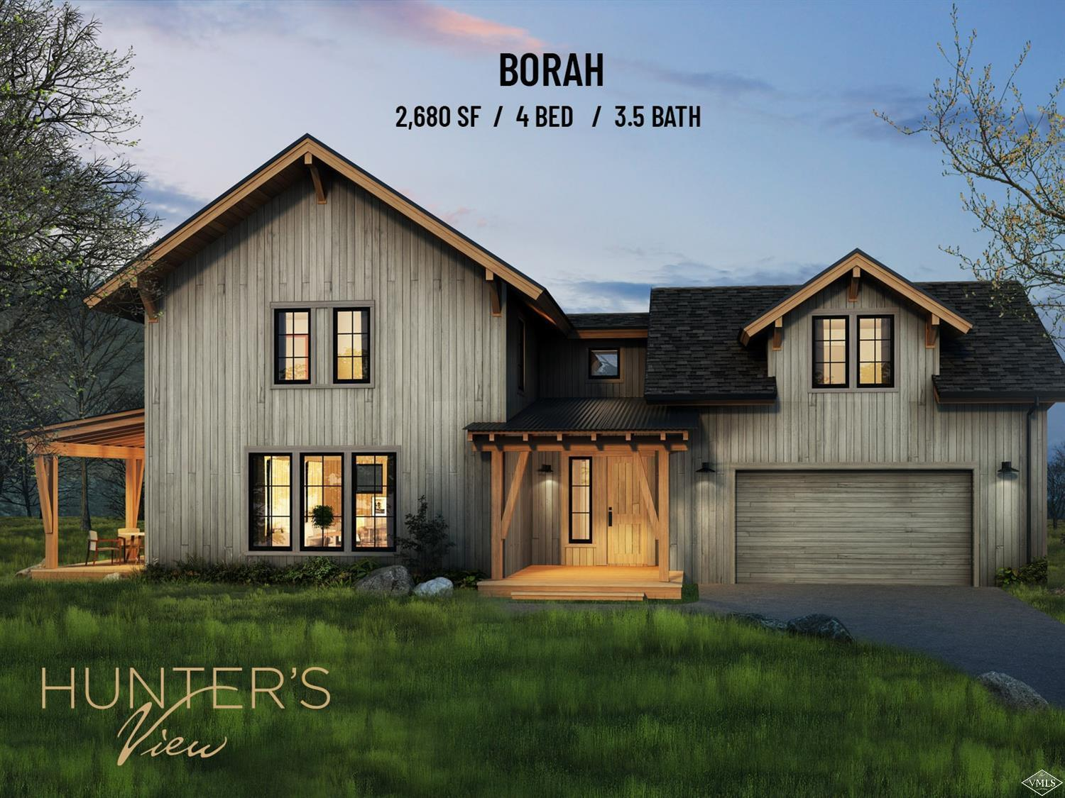 Starting Fall of 2020 - Borah Model - Hunter's View Residences - Nestled on 81 acres, surrounded by pristine wilderness, Hunter's View is Frost Creek's newest real estate offering. Phase 1 (15 homes out of 44) are thoughtfully designed new construction homes, which is perfect combination of personalization and convenience. With 3 unique layouts and numerous additions to choose from, no two residences will be exactly the same.
