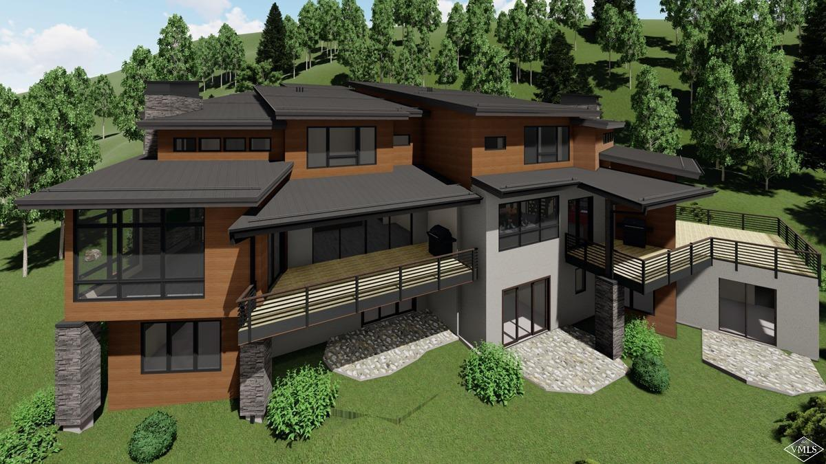 Stunning new construction in Vail is underway. The east side of this custom 5-bedroom, 6-bathroom home has views of the East Vail waterfall and is a short walk to the bus stop and the Vail Mountain School. Features include a 2-car garage, an elevator, 2 living rooms, all en-suite bedrooms, and a large deck and patio. Completion is estimated for the Fall 2020.