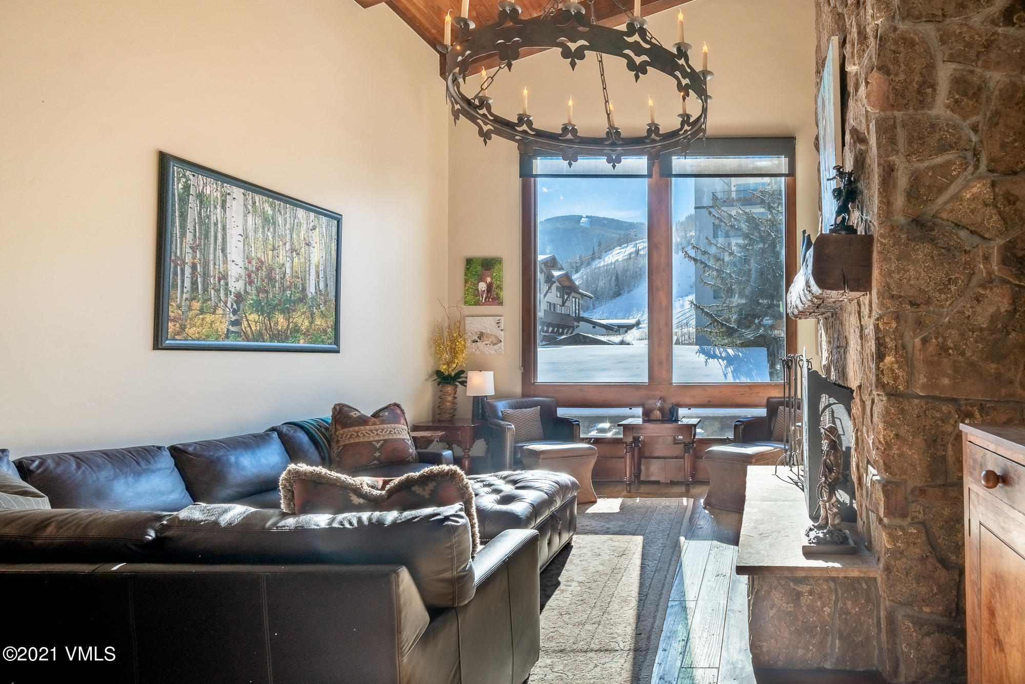 Rarely available Lodge at Vail three bedroom condominium with vaulted ceilings and views toward Vail Mountain. Fantastic amenity package with garage parking, spa, workout facilities, and two of Vail's best pools. The Lodge also offers an outstanding rental program.