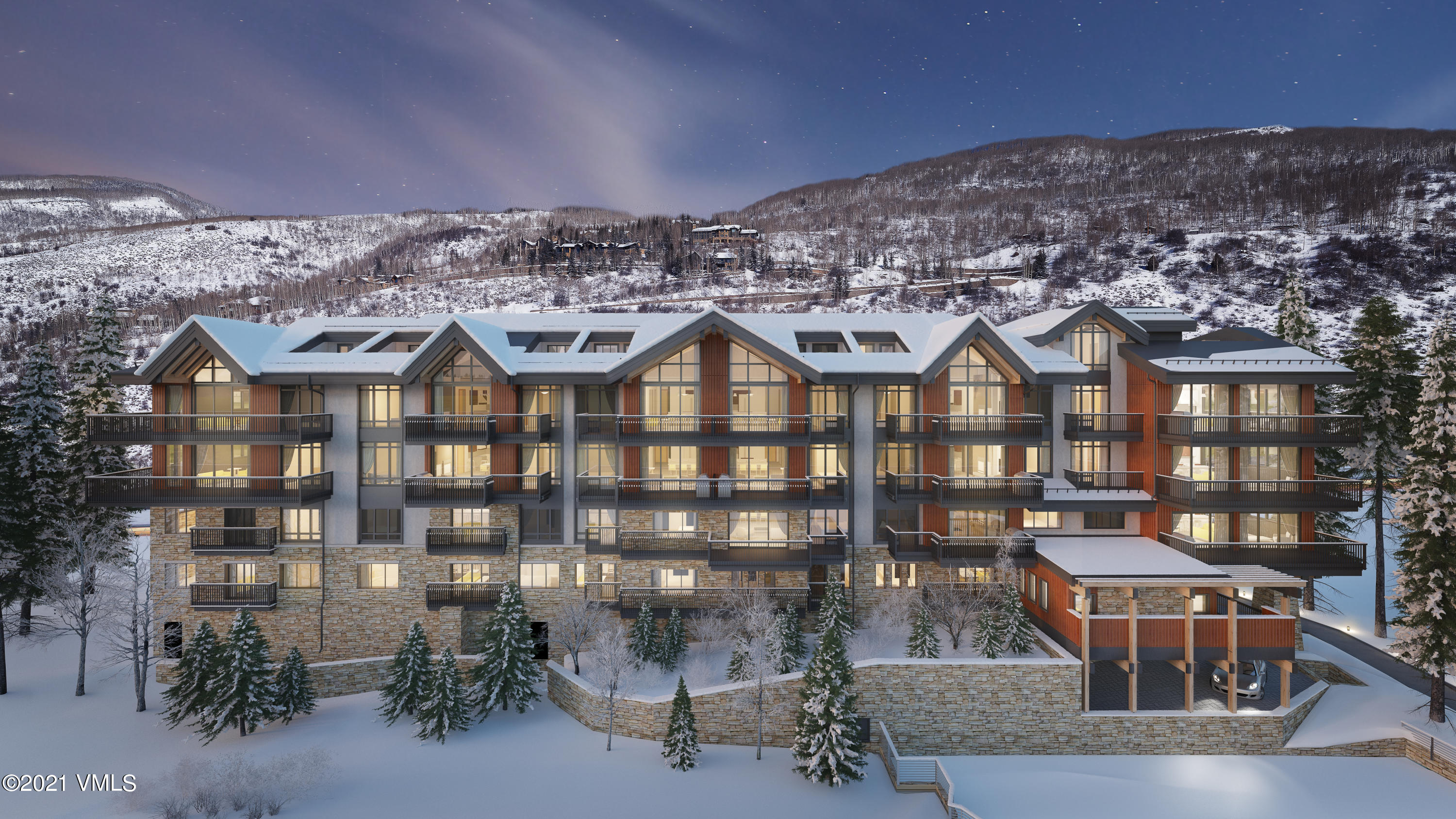 Residence #305 features: 3 bedrooms, including 2 lock-offs (366 square feet, and 310 square feet), 8'-deep deck off master bedroom and great room, and 3-panel great room window (9'h X 11'w) that opens onto deck. Altus Vail sets the new standard for mountain home living in Vail.  As one of the most significant new projects in Vail Village in over ten years, owning at Altus means you will enjoy the ultimate modern homeownership experience.  Altus is a statement of striking, timeless design.  The residences themselves feel like single-family homes - with spaciousness, attention to detail and privacy that creates complete comfort.  And with spectacular views of Vail Mountain and easy access connecting you to the best of Vail, there is simply nothing else like it.  With only 15 luxury residences for sale in the community, ownership is limited and truly special.  Buyer and/or Buyer's agent to verify taxes, square footage and HOA information.  Legal description is subject to change as this home is still under construction. Estimated completion May of 2021. Taxes are estimated only. HOA fee is projected to be 0.76 per square foot, per month. Budget to be finalized. Artist renderings for similar units in the building.