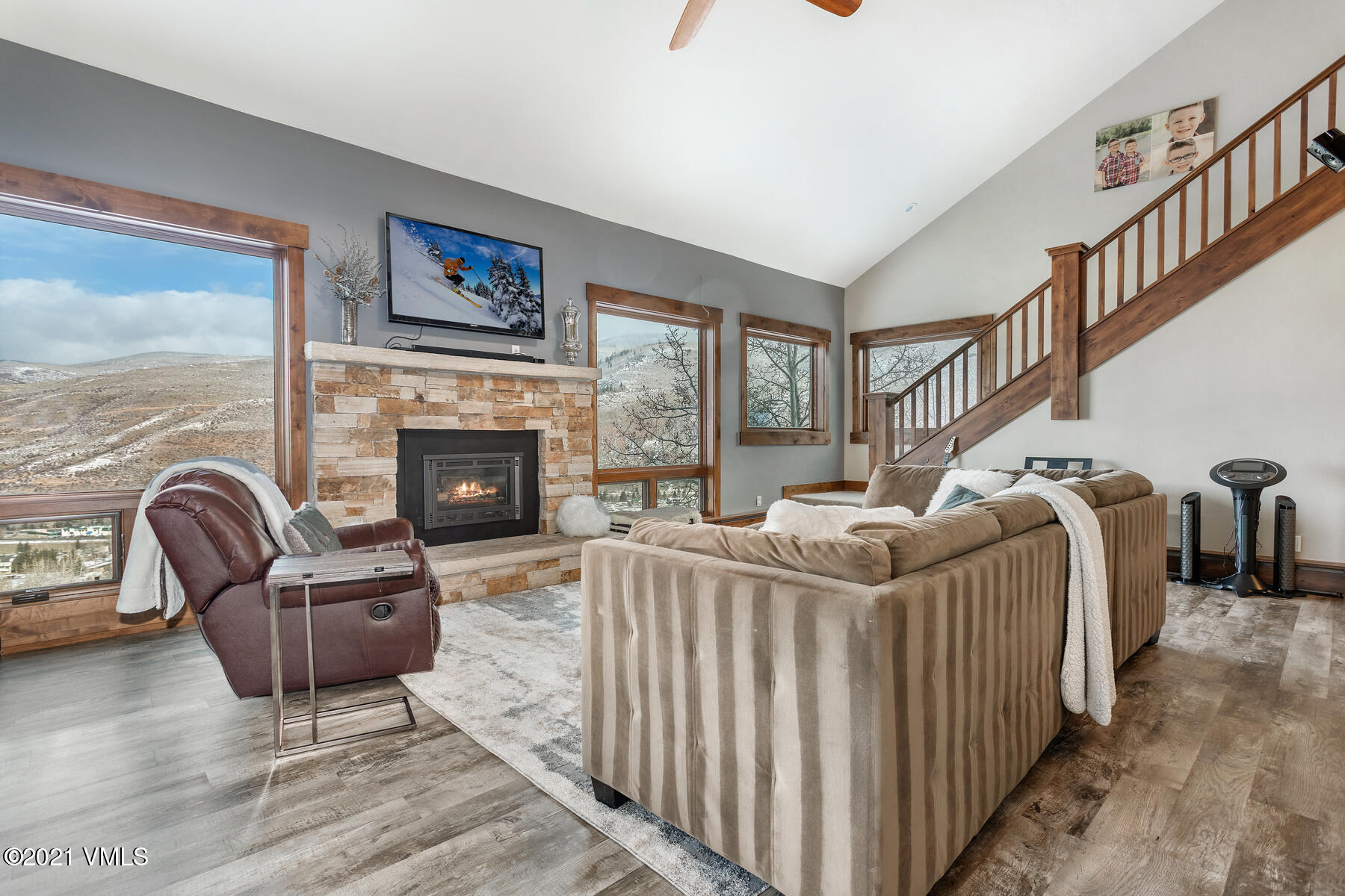 Situated atop Whiskey Hill with incredible western views of the valley, this home is not to be missed!  It will stand out amongst its competition.  The home has undergone a gorgeous remodel and spaces have been reinvented for convenience and a modern lifestyle.  Upon entering the home you are greeted with a large entry and mud room, complete with built in cubbies and storage for those with an active lifestyle.  There is an oversized garage with high ceilings and a ton of additional closet space and storage for everything from bikes and skis to rafts and much more. Just off the garage there is a heated den or office space, complete with a lofted bed for additional sleeping space, a sink and plenty of built in storage and desk space.  As you head to the main level of the home an abundance of natural light enters through picturesque windows.  The flex space just off the kitchen allows for a second living space and has direct access to the private back yard.  The dining room views are spectacular!  Originally a sunroom, it has an open air feel for a tremendous amount of direct sunlight or dining under the stars.  The kitchen has been completely remodeled with a Wolf Range and new LG Electronics Smart Refrigerator.  Just off the kitchen is a generous living room with vaulted ceilings, an open staircase, wet bar and large windows allowing for natural light and incredible views all day long.  There is a bedroom and bathroom on the main level complete with a private deck to relax and enjoy coffee on beautiful summer mornings.  As you head upstairs there is an additional bedroom with a loft and/or storage and the master bedroom complete with a 5 piece bath, dual vanity sinks and a large walk in closet. The driveway is heated.  Whether you are looking to upgrade, acquire your first mountain home or are just ready for a change, this wonderful home is an excellent opportunity to start enjoying the mountain lifestyle you have been wanting!