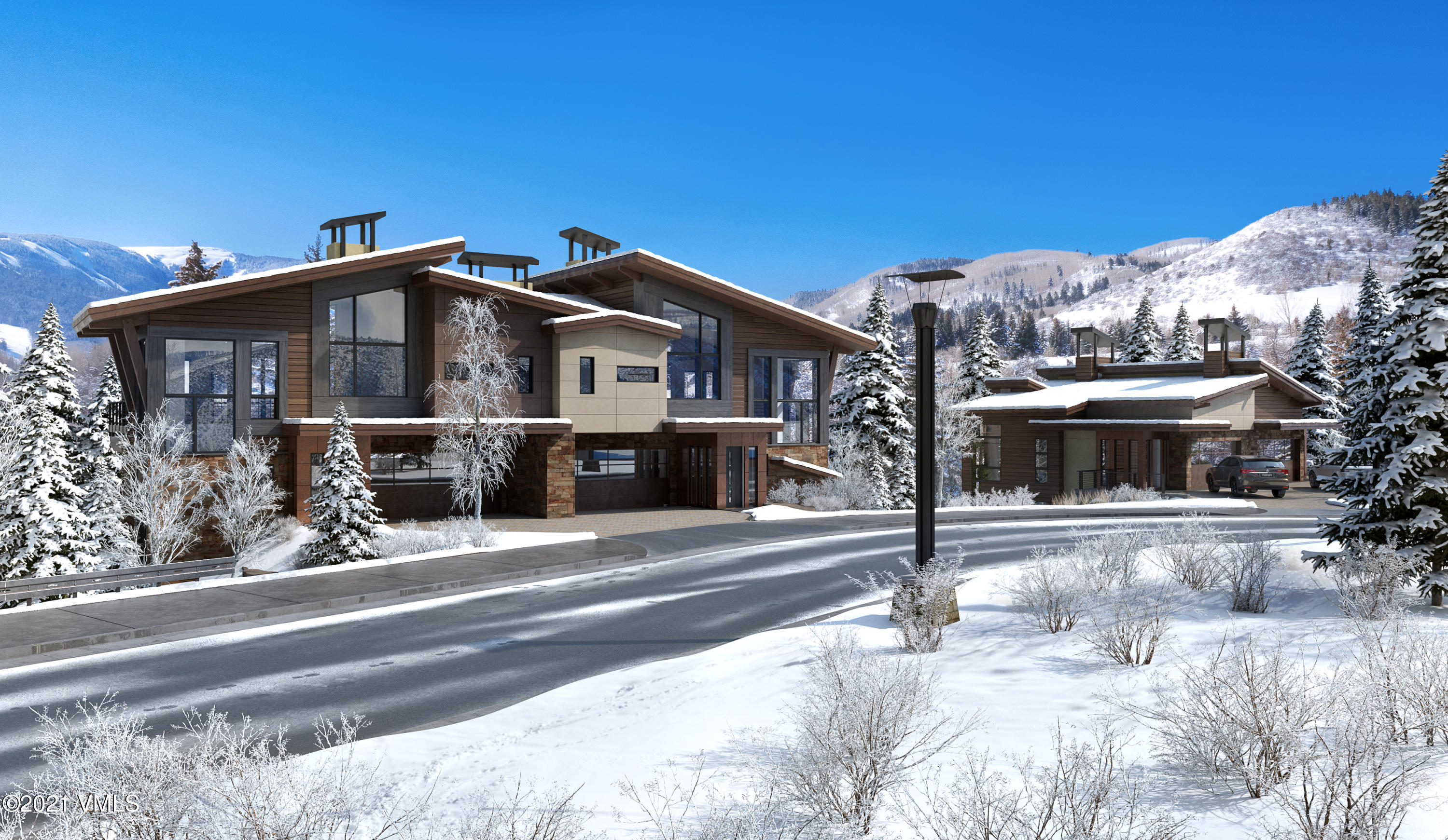The last and final Residence at Riverfront and now offered fully furnished. Luxurious 4-bedroom, 3-bathroom in an unparalleled location west of the Westin, perched on the Eagle River in the brand-new Riverfront Village. Enjoy an ultimate indoor-to-outdoor experience in this very open-concept plan featuring 9-foot glass accordion-style walls that fully open and an expansive deck, allowing for panoramic views down the river and up to mountain peaks. Designed for the future of luxury mountain living, the floor plans offer a second living room, solar panels, a cutting-edge air filtration system, along with lockable owner storage and a coveted 2-car garage. Enjoy the perks of the world class amenities at the Westin while still being able to retreat to the privacy and seclusion of your own quiet enclave of only 4 residences. Interiors are sleek and sophisticated featuring oak slab cabinets, wide-plank hardwood floors, quartz countertops, Waterworks fixtures, Thermador appliances and natural textures and contrasts.