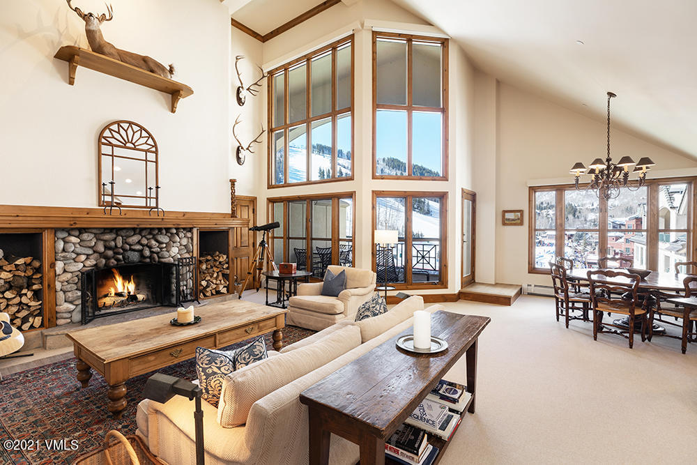 A rare opportunity to live in the most coveted location in the heart of the Beaver Creek Village! This top floor penthouse residence is located in the amenity rich Park Hyatt Hotel offering a premier level of service, convenience and ski-in/ski-out access. Walk out your back door to the ice skating rink and all the shops and dining that Beaver Creek has to offer! Penthouse #8 has majestic 180-degree views looking directly to the village, slopes and the world famous Birds of Prey race course. Spacious 3-bedroom + den floor plan provides flexibility for a growing family and a great-room style living space framed with the ski slope view. Each bedroom has windows with natural light, ample closet space and a thoughtfully designed en-suite bathroom. Hotel amenities include concierge and front desk services, valet, year-round heated pool, full spa and fitness, underground parking, ski valet, and on-site restaurants. Recently updated and immaculately cared for this residence has never been rented but has fantastic rental potential. Enjoy world renown powder skiing out the back door of this premier penthouse nestled in at the base of the Centennial chairlift.