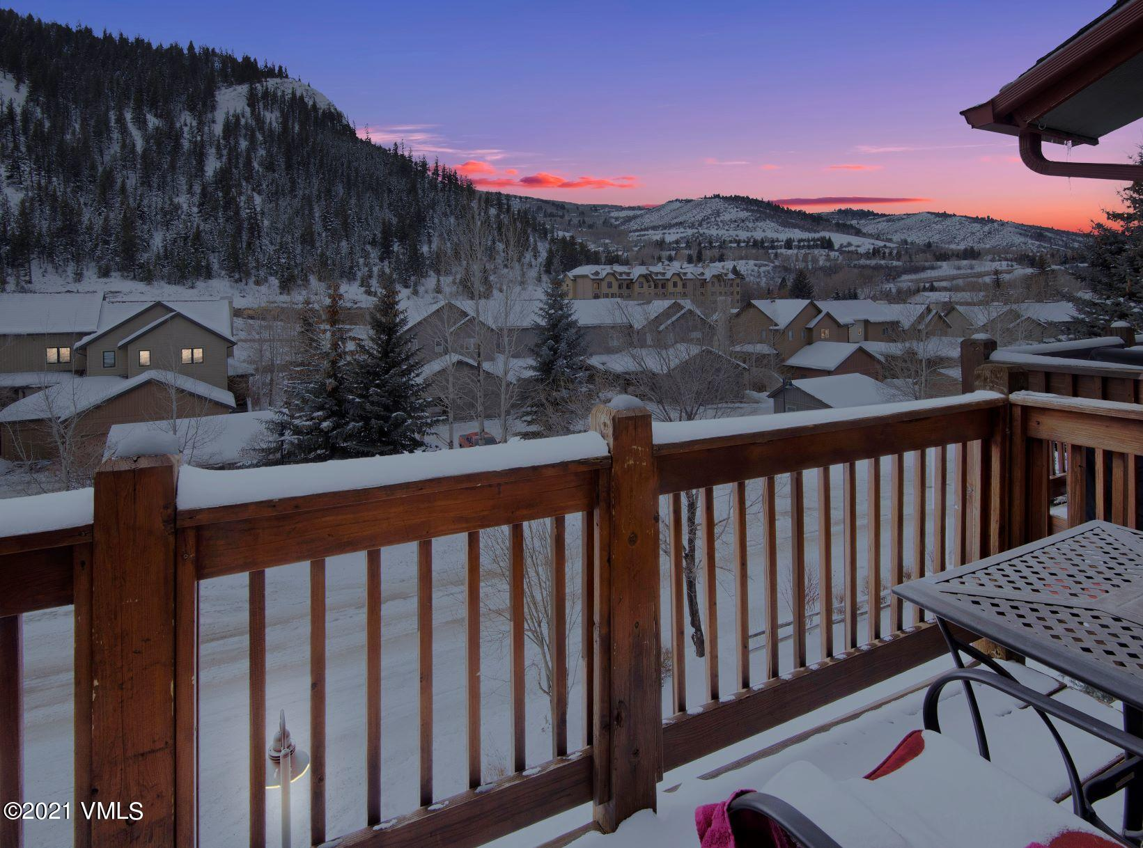 Top floor two bedroom condo with a one car garage. Walking distance to the Westin gondola and town of Avon bus right across the street. South facing balcony with views toward Beaver Creek. Close to everything. * photos are from 2019 listing, they have been altered to remove clutter. Seller would like to do a 1031 exchange.