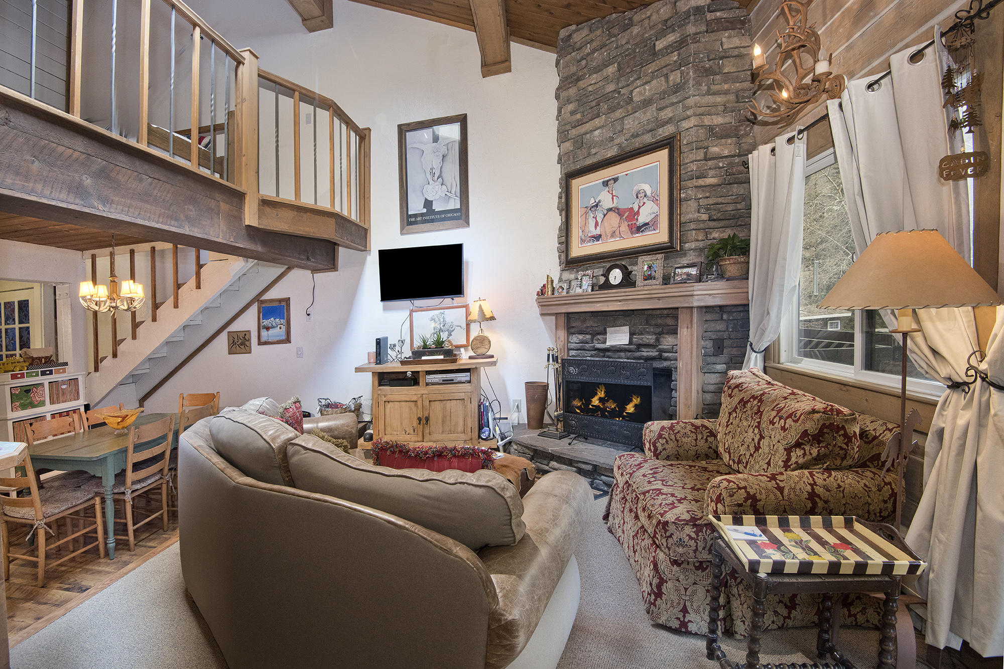 IMMACULATE, Upgraded 3 bed, 2 bath, expands two levels, 1324 sq. ft. Unit comes tastefully furnished with warm, Mountain decor, TURN KEY. Interlochen Condos are located adjacent to Gore Creek, ON the free bus route to the VAIL ski slopes right outside your front door! HOA dues include heat, cable, and WI-FI. Recently renovated Log Construction, new windows and doors, vaulted ceilings, this is a MUST SEE! Welcome to Vail.