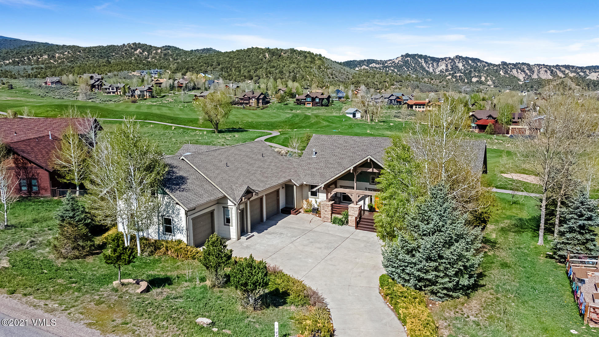 Spectacular Eagle Ranch 6-bedroom Custom Home. A Grand entryway with tall ceilings and commanding views of Eagle Ranch Golf Course, Castle Peak and surrounding mountain ranges. This home's sundrenched great room with panoramic windows and a wraparound deck provides plenty of space for entertainment. A unique floor plan offers 3- bedrooms on the main entry level (including a primary bedroom).There is an open kitchen with island and a dedicated office and laundry room.  The lower walkout terrace offers a 1-bedroom mother-in-law suite with kitchenette and an additional guest bedroom or bonus room.Above the 3-car garage is a spacious 1 bedroom lock-off apartment perfect for additional income with a proven rental history.Enjoy this mountain lifestyle filled with outdoor fun, just outside your door. Eagle Ranch is two hours West of Denver, only 30 minutes to world class skiing in Vail and 6 miles to the Eagle County Airport. Eagle Ranch is a Colorado Mountain Town known for its fantastic community, lower elevation and warmer temperatures. This Eagle Ranch treasure is central to all Colorado has to offer. Taking Back-Up Offers