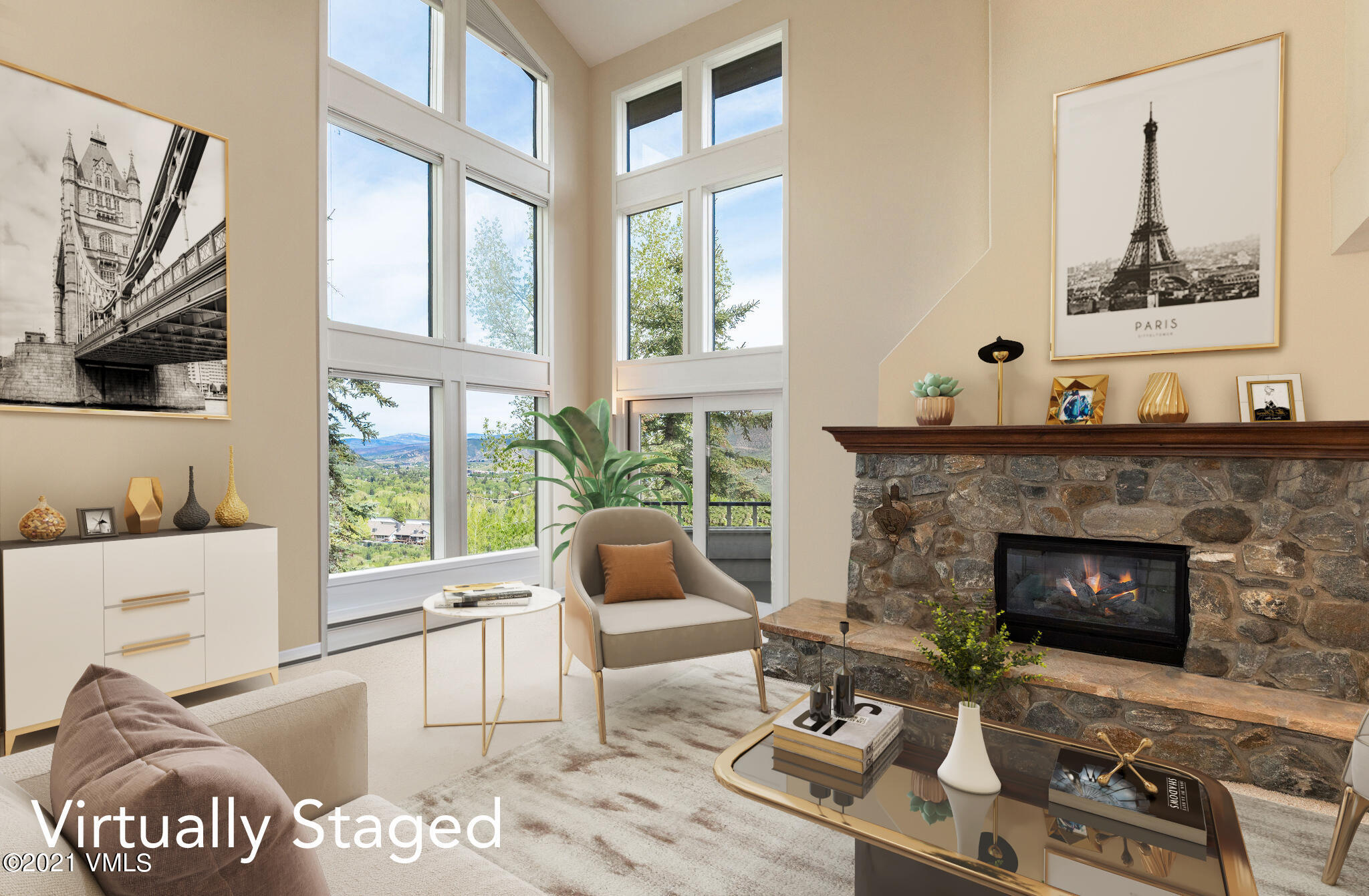 Immaculately maintained Whiskey Hill home with Castle Peak views. Three fireplaces: 1 gas, 2 wood burning.  Private location with mature trees surrounding the home.  West side opens to large private yard.