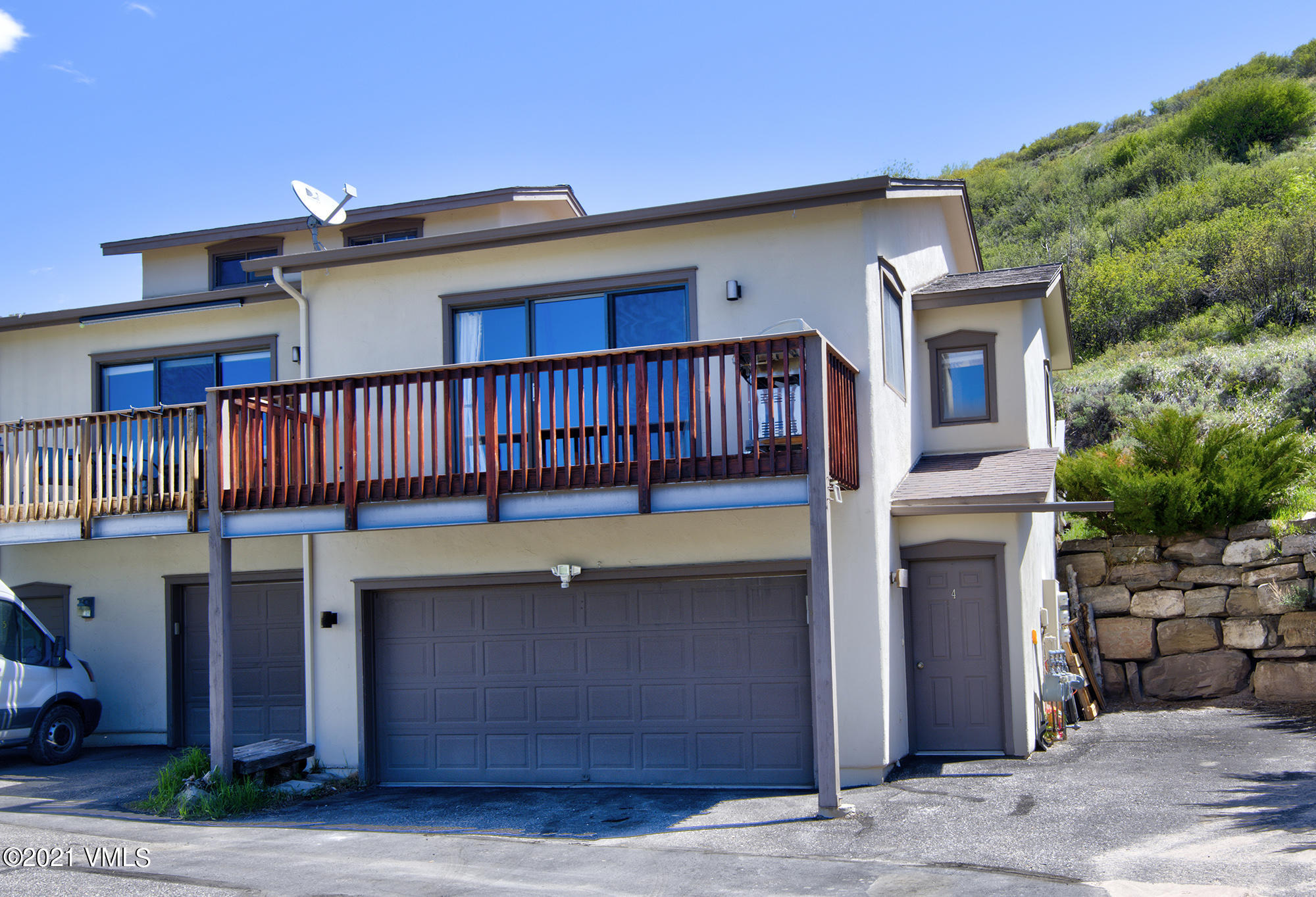 Very spacious 1 bedroom, 1 bath townhome in Wildwood with a 2 car garage, large, private patio and a front deck to sit and feel like you are on top of the world.  This is an excellent opportunity to own in the Vail Valley and the location is ideal, featuring big views of Beaver Creek and New York Mountain, sunshine and south facing.   Wildwood is just a short drive to the world class resorts of Beaver Creek and Vail - endless outdoor activities from your doorstep and close enough that you can enjoy all the conveniences of town. This is an end unit townhome, only 6 units in the complex, and has been meticulously maintained.  Remodel in 2017 includes new decks, hickory and tile flooring, countertops, water heater, refrigerator, washer.  OPEN HOUSE ON 7/11 from 11:00-2:00.
