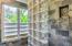 Rain shower head and custom slate tile cubby holder