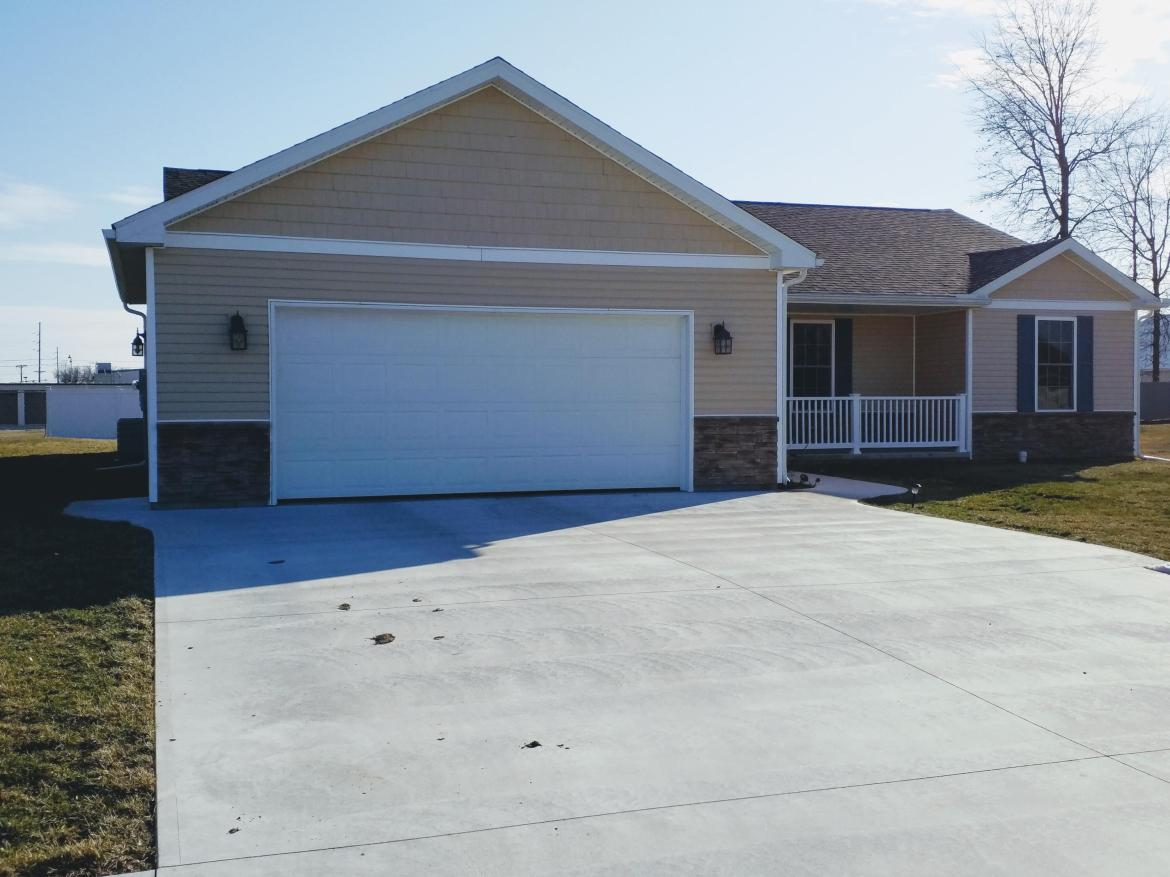 Check out this 3 bed 2 full bath home that was built in 2017 & is located on a quiet cul de sac. Open kitchen dining living room. Master has a 9x7 walk-in closet. Other 2 bedrooms have nice double door closets. Patio doors lead to covered cement pad with ceiling fan & back of large lot has tall white privacy fence. Furnace/water heater located in closet in the garage. Kitchen appliances included in the sale. Occupancy given at closing.