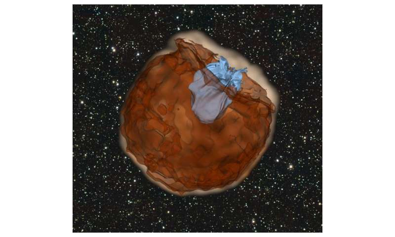 Caltech astronomers observe a supernova colliding with its companion star