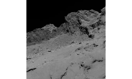 Final descent image from Rosetta spacecraft