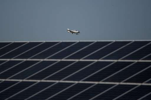 George airport's 2,000 solar panels produce up to 750 kW every day,