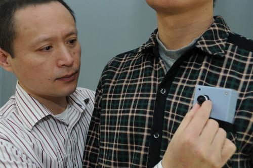 Wearable device helps vision-impaired avoid collision