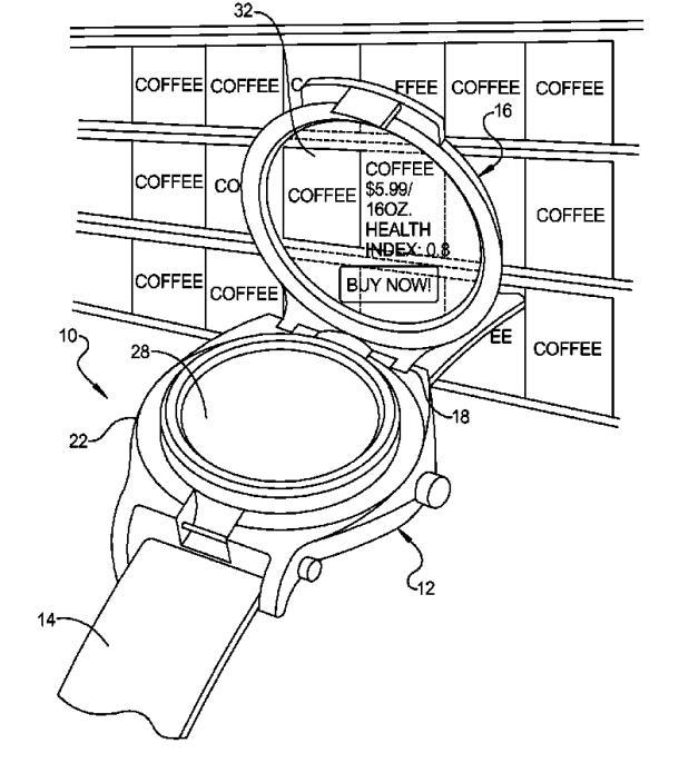 Google has designs on flip-up wristwatch