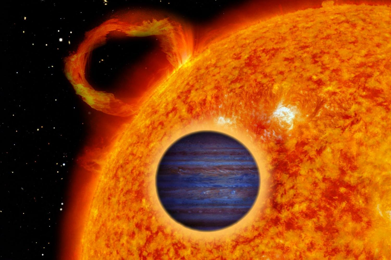 Artist's impression of a 'hot Jupiter'. Credit: Ricardo Cardoso Reis (CAUP)