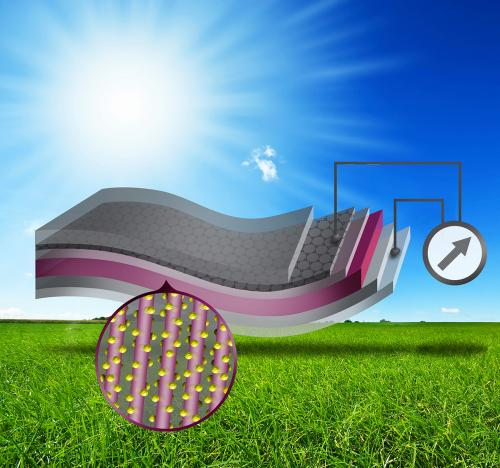 Flexible, light solar cells: Researchers develop a new approach using graphene sheets coated with nanowires