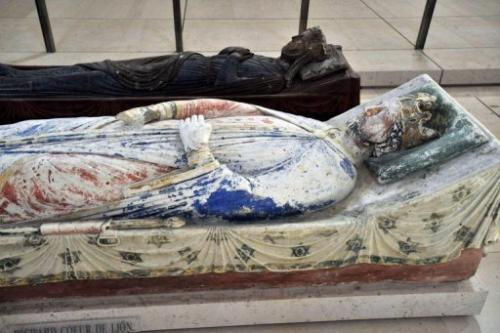 Richard the Lionheart's tomb at the Fontevraud Abbey in the French town of Saumur, on August 21, 2009