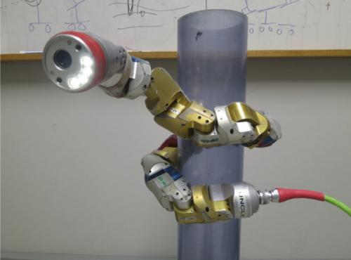 Robot snake automatically wraps around an object when thrown (w/ Video)