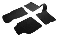arcoll 3 tapis de sol semi mesure pour renault clio 1 et renault clio 2 et renault super 5 noirs pour fixations d origine attaches non fournies