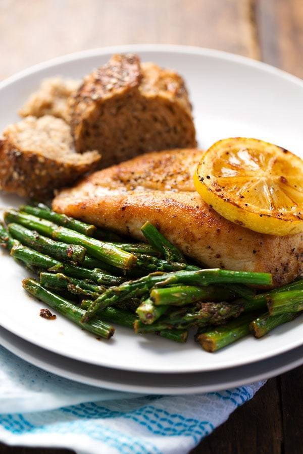 Image result for chicken with asparagus