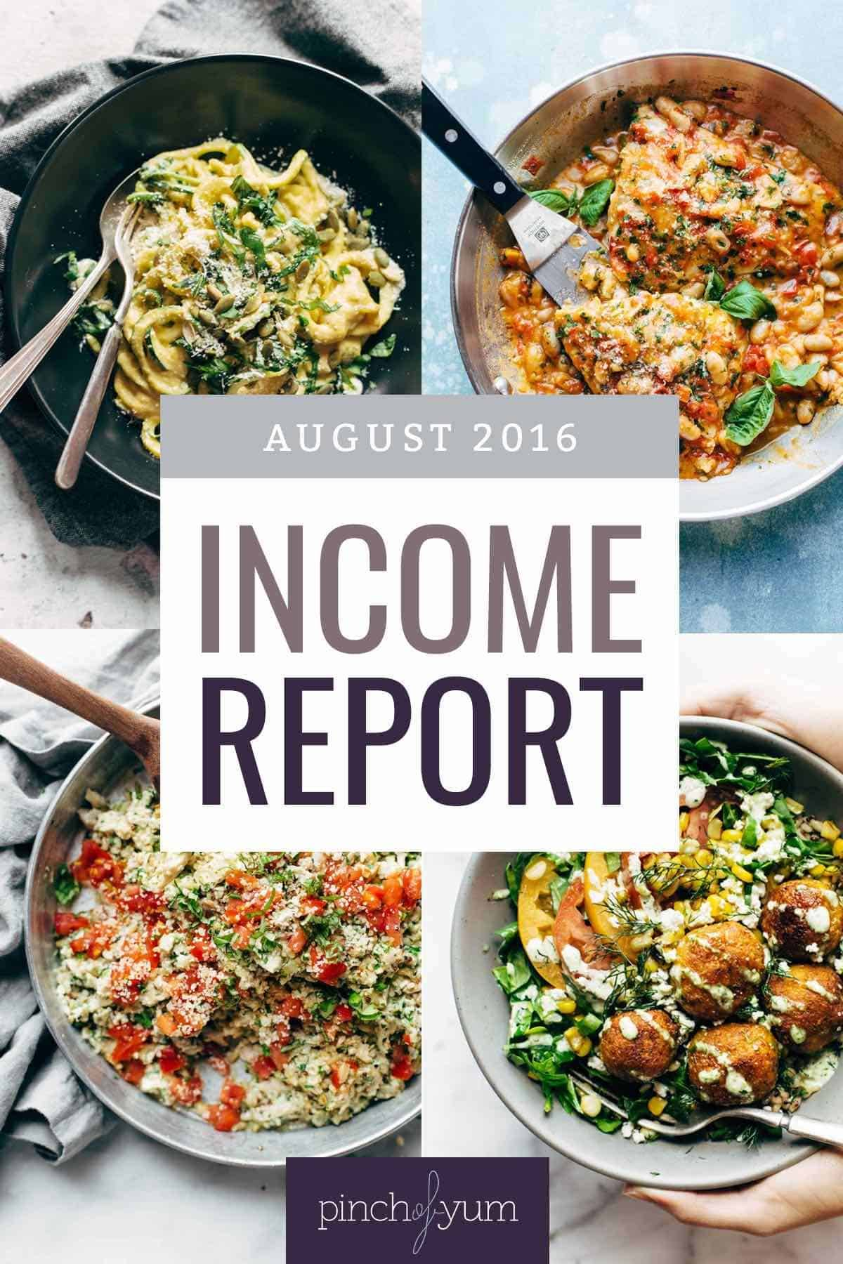 August Income Report | pinchofyum.com