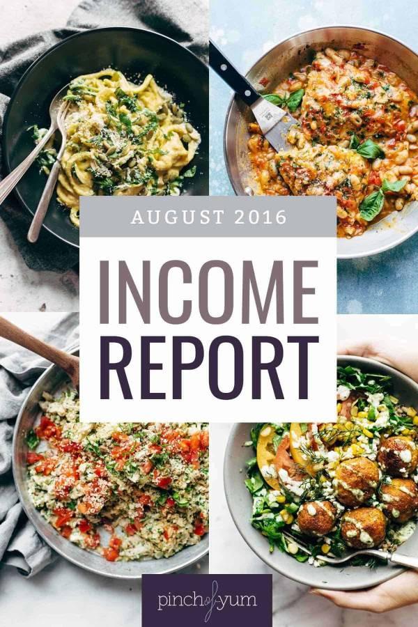 August Income Report   pinchofyum.com