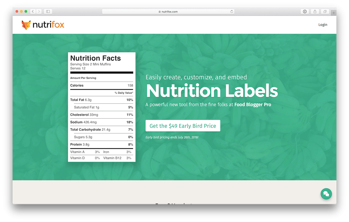 Nutrifox - Easily create, customize, and embed Nutrition Labels