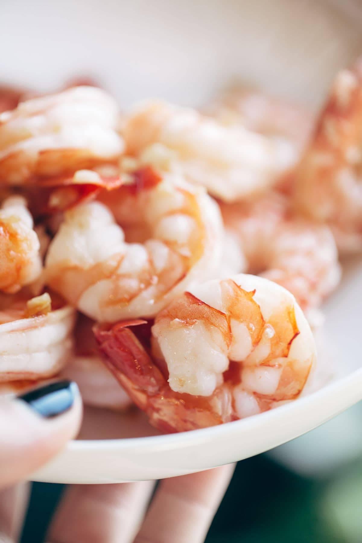 Shrimp for Capellini Pomodoro | pinchofyum.com