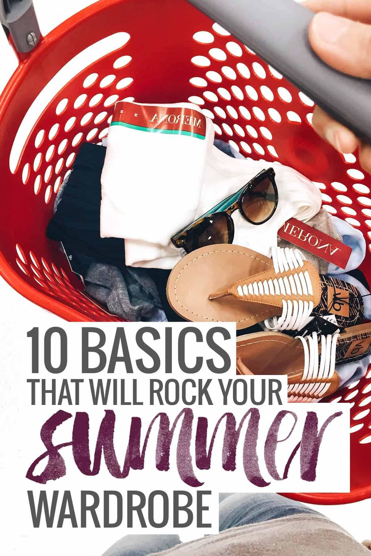 10 Basics that will ROCK your Summer Wardrobe, especially if you are thinking about doing a capsule wardrobe or just simplifying and living with less. | pinchofyum.com
