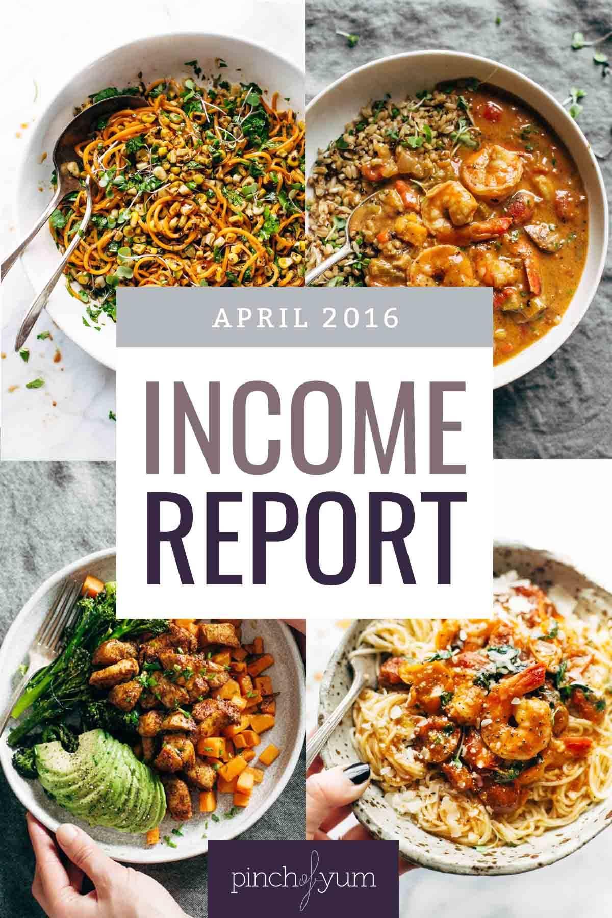 Traffic and Income Report April 2016   pinchofyum.com